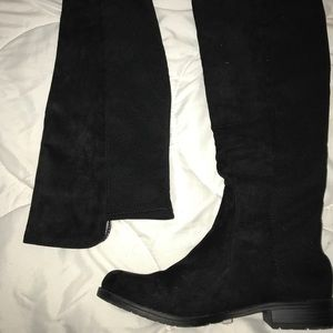 Unisa Black Knee High boots with stretch calf